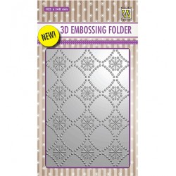 (EF3D002)Nellie's Choice Embossing folder Backgrounds Flowers-2