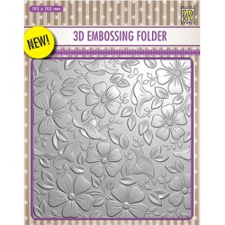 (EF3D003)Nellie's Choice Embossing folder Backgrounds Flowers-3