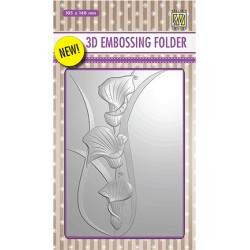 (EF3D004)Nellie's Choice Embossing folder Arums