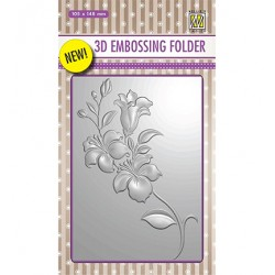 (EF3D005)Nellie's Choice Embossing folder Branch with Flowers