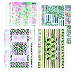 Printed Figure Cards - Yvonne Creations - Happy Tropics