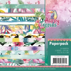 (YCPP10025)Paperpack - Yvonne Creations - Happy tropics