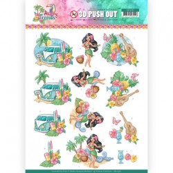 (SB10361)3D Pushout - Yvonne Creations - Happy Tropics -Tropical Holiday