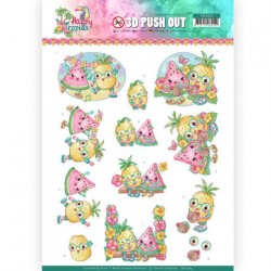 (SB10363)3D Pushout - Yvonne Creations - Happy Tropics -Tropical Fruits