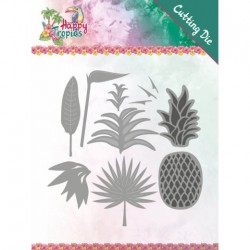 (YCD10173)Dies - Yvonne Creations - Happy Tropics - Lush Leaves