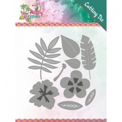 (YCD10174)Dies - Yvonne Creations - Happy Tropics - Tropical Blooms