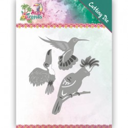 (YCD10175)Dies - Yvonne Creations - Happy Tropics - Exotic Birds