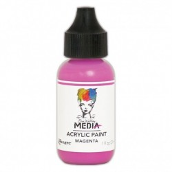 (MDQ54047)Ranger Dina Wakley media heavy body acrylic paint magenta