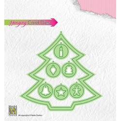 (HCD001)Nellie's Hanging Card Dies Christmas Tree