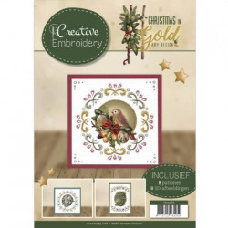 (CB10003)Creative Embroidery - Amy Design - Christmas in Gold