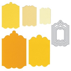 (657911)Framelits Die Set 5PK - Tags, Fancy