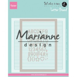 (DF3454)Marianne Design Folder Karin Joan's Letter Board