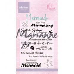 (CS1025)Clear stamp Mermaid sentiments by Marleen
