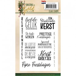 (ADCS10060)Clear Stamps - Amy Design - Christmas in Gold - Text NL