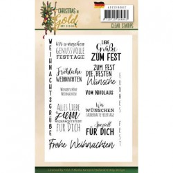 (ADCS10062)Clear Stamps - Amy Design - Christmas in Gold - Text DE