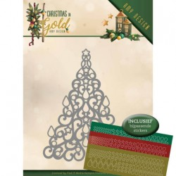 (ADD10182)Dies - Amy Design - Christmas in Gold - Christmas Tree Hobbydots