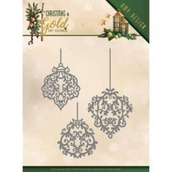 (ADD10184)Dies - Amy Design - Christmas in Gold - Golden Ornaments