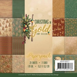 (ADPP10027)Paperpack - Amy Design - Christmas in Gold
