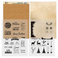 (ADMC1003)Mica Sheets - Amy Design - Christmas in Gold