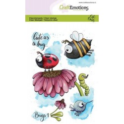 (1631)CraftEmotions clearstamps A6 - Bugs 1 Carla Creaties