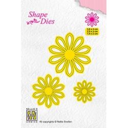 (SD162)Nellie's Shape Dies 3x Flower-5