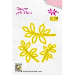 (SD164)Nellie's Shape Dies 3x leaf-4