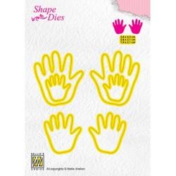 (SD165)Nellie's Shape Dies 3x Baby hands