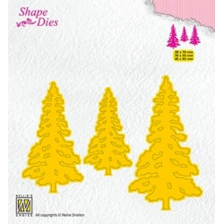 (SD167)Nellie's Shape Dies Pinetrees