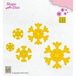 (SD168)Nellie's Shape Dies Snowflakes