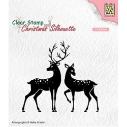 (CSIL006)Nellie's Choice Clear stamps Christmas Silhouette Deer