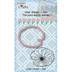 (SNCCS002)Snellen Crafts dies + stamp Lily Leave