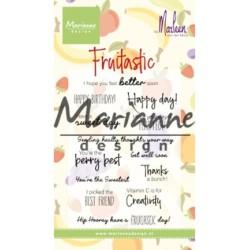 (CS1031)Clear stamp Marleen's Fruitastic
