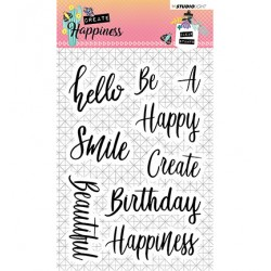 (STAMPCR346)Studio light Stamp Create Happiness nr.346