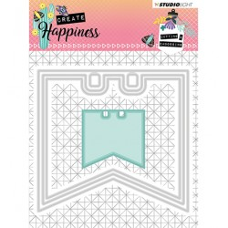 (STENCILCR153)Studio Light Cutting and Embossing Die Create Happiness nr.153