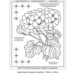 (TP3573E)PCA® - EasyEmboss Heather's Geraniums