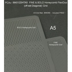 (M4012DHTA5)PCA® - FINE & BOLD A5 HONEYCOMB Twin Pack FlexiDuo Grids