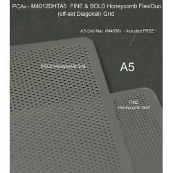 (M4012DHTA5)PCA® - FINE & BOLD A5 HONEYCOMB Twin Pack FlexiDuo Grids