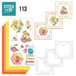 (STDO113)Stitch and Do 113 Honey Bees