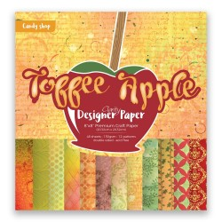 (ACC-CA-40850-88)GROOVI Design Paper Pack 8x8 TOFFEE APPLE