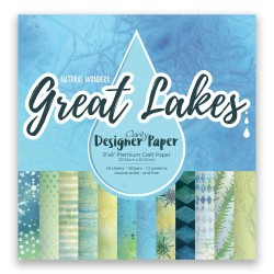 (ACC-CA-40851-88)GROOVI Design Paper Pack 8x8 GREAT LAKES