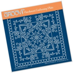 (GRO-ch-41263-01)Groovi® Baby plate A6 TINA'S CHRISTMAS SNOWFLAKE PARCHLET