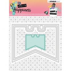 (STENCILCR154)Studio Light Cutting and Embossing Die Create Happiness nr.154