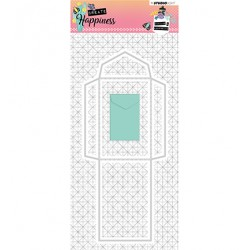 (STENCILCR161)Studio Light Cutting and Embossing Die Create Happiness nr.161