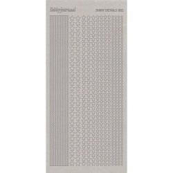 (SDS002TZ)Shiny Details - Stars - Zilver