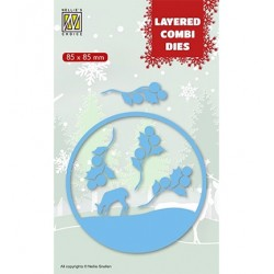 (LCDCD002)Nellie's Layered combi dies Christmas Deer (Layer B)