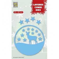 (LCDCD003)Nellie's Layered combi dies Christmas Deer (Layer C)