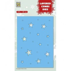 (LCDCS003)Nellie's Layered combi dies Christmas Stars (Layer C)