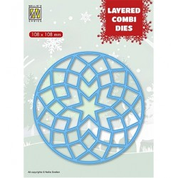 (LCDRS001)Nellie's Layered combi dies Round Star (Layer A)