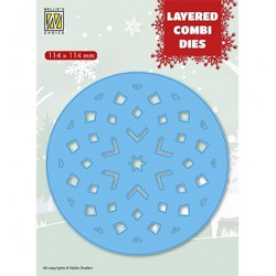 (LCDRS003)Nellie's Layered combi dies Round Star (Layer C)