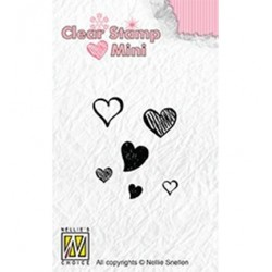 (MAFS010)Nellie's Choice Clear stamps Hearts